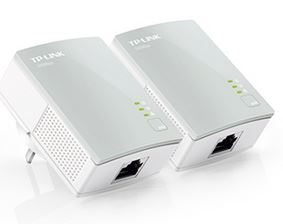TP-Link TL-PA411 KIT AV600 Nano Powerline Adapter Starter Kit HomePlug AV 1x100Mbps LAN 300m Range Miniature Design Plug & Play