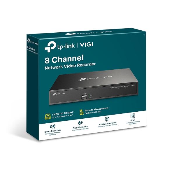TP-Link VIGI NVR1008H 8 Channel Network Video Recorder