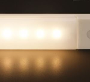 Simplecom EL608 Rechargeable Infrared Motion Sensor Wall LED Night Light Torch - Warm White