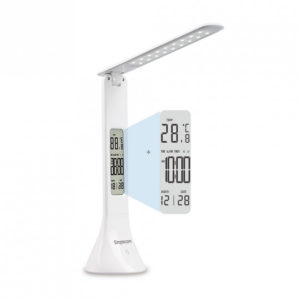 Simplecom EL610 LED Mini Desk Lamp Rechargeable with Digital Clock
