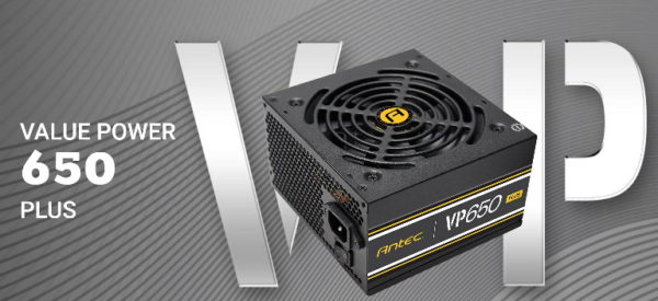 Antec VPP 650w 80 PLUS @ 85% Efficiency AC 120V - 240V