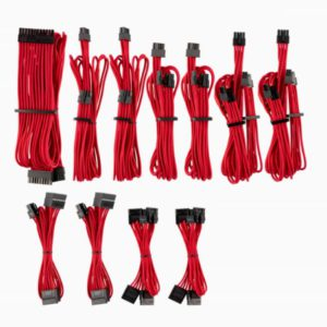 For Corsair PSU - Red Premium Individually Sleeved DC Cable Pro Kit