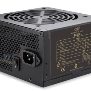 Deepcool DE-600 V2 High Efficiency Gaming True 450W Power Supply Unit 120mm PWM Fan