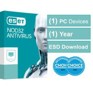 ESET NOD32 Antivirus (Essential Protection) OEM 1 Device 1 Year ESD Key Only