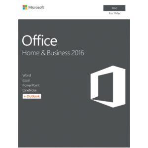 Microsoft Office Home & Business 2016 for MAC - Key - No DVD - Retail Box (LS)
