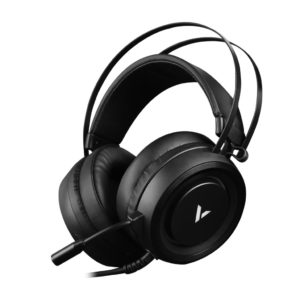 RAPOO VH500 Illuminated RGB Glow Gaming Headsets Black - 16m Colour Breathing Light Hidden Noise-Cancelling Microphones (LS)
