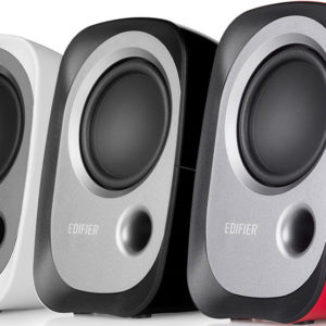 Edifier R12U USB Compact 2.0 Multimedia Speakers System (Red) - 3.5mm AUX/USB/Ideal for Desktop
