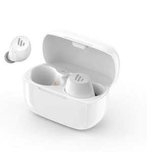 Edifier TWS1 Bluetooth Wireless Earbuds - WHITE/Dual BT Connectivity/Wireless Charging Case/12 hr playtime/9 hr Charge/8mm Magnetic Driver Earphones