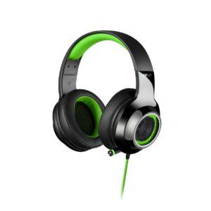 Edifier V4 (G4) 7.1 Virtual Surround Sound USB Gaming Headset Green - V7.1 Surround Sound/ Retractable Mic/LED Lights Mesh/Headphones/Gaming/PC/Laptop