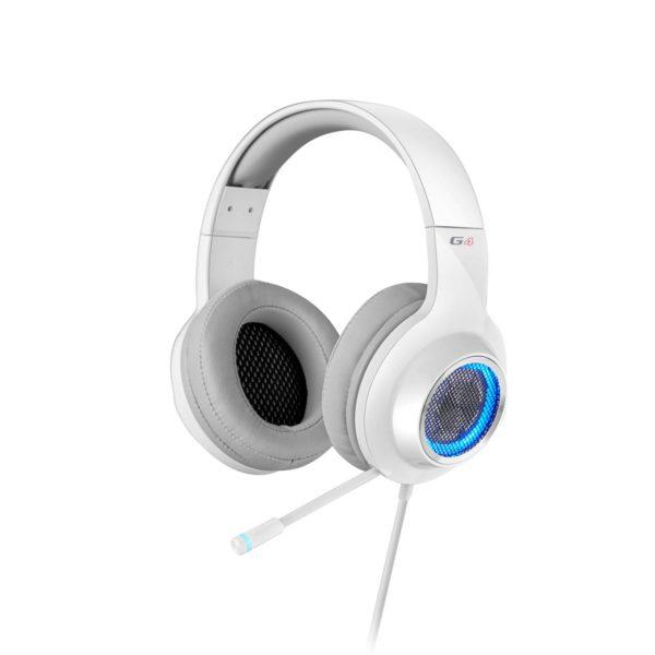 Edifier V4 (G4) 7.1 Virtual Surround Sound USB Gaming Headset White - V7.1 Surround Sound/ Retractable Mic/LED Lights Mesh/Headphones/Gaming/PC/Laptop