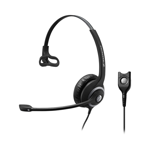 EPOS | Sennheiser Wide Band Monaural headset with Noise Cancelling mic - low impedance for use with mobile phones and IP phones