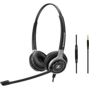 EPOS | Sennheiser Wired binaural UC headset with 3.5 mm jack connectivity. In-line mini call control for use with 3.5 mm jack.