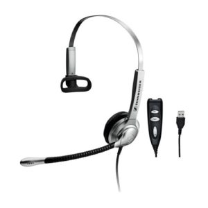 Sennheiser SH 338 USB Over the Head Monaural Wide Band Headset (504178)  -  Requires Easy Disconnect Cable