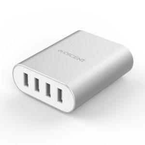 Orico Aluminum 4 x USB Port - 2.4A - Desktop Charger - Silver