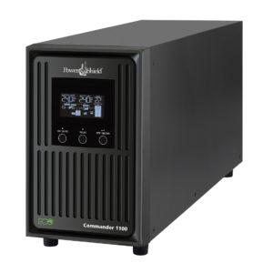 PowerShield Commander 1100VA / 990W Line Interactive Pure Sine Wave Tower UPS with AVR. Telephone / Modem