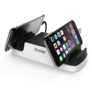 Huntkey Smart USB Charging Dock with 4 USB 2.4A ports and 2 Micro USB Connectors - Perfect for mobile phone/tablet/IPAD char