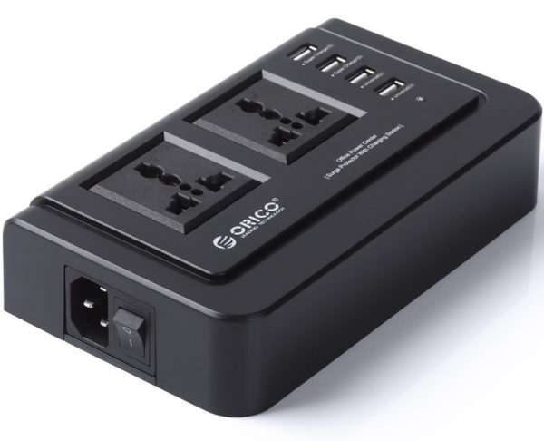 ORICO 2 AC Outlets and 4 USB Travel Prower Board - Black (OPC-2A4U)