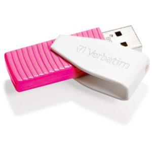 Verbatim 16GB Swivel USB2 Pink Store N Go Swivel USB2 Drive USB Storage Drive Memory Stick(LS)