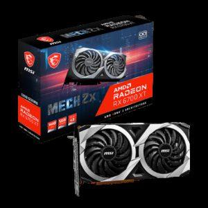 MSI AMD Radeon RX 6700 XT MECH 2X 12G Video Card