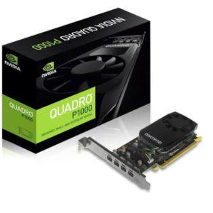 NVidia Quadro P1000 PCIe Workstation Card 4GB DDR5 4xmDP 4x5120x2880@60Hz 128-Bit 82GB/s 640 Cuda Core Single Slot Low Profile (126P9000200)