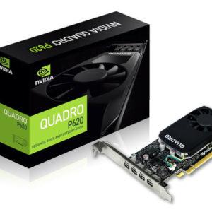 NVidia Quadro P620 PCIe Workstation Card 2GB DDR5 4xmDP1.4 4K 4x5120x2880@60Hz 128-Bit 80GB/s 512 Cuda Single Slot Low Profile (126Q4000100)