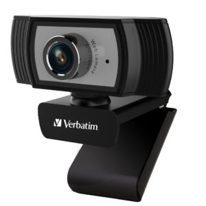Verbatim 1080p Full HD Webcam - Black/Silver FHD 1920x1080